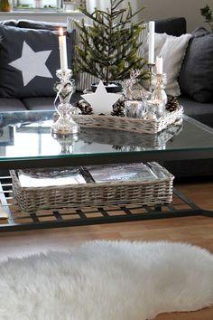 Please describe your furniture style in short! Bauernsilber in Verbindung mit grau und weiß finde ich sehr passend für Weihnachten.