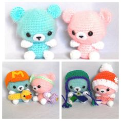 Summer or Winter Set Fuzzy Bears Amigurumi Bear Set amigurumi bears crochet bears crochet toy crochet amigurumi crochet duck crochet hat fuzzy amigurumi tiny amigurumi small amigurumi crochet clothes doll clothes stuff animal 35.00 USD #goriani