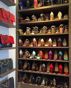 Closet Full Of Louboutin Chanel And Valentino