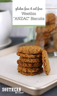 Gluten Free Anzac Biscuits, Easy Anzac Biscuits, Gluten Free Sugar Cookies, Sugar Free Diet, Gluten Free Oats, Lactose Free, Dairy Free, Aussie Food, Australian Food