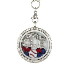 Perfect Locket for #Cleveland #Baseball Fans! Not Sold in Stores!! - Material: Stainless Steel Locket and Chain - Locket Size: 30 mm - Chain Size 30 inch - **All Charms In Picture Included** #christmas #gifts