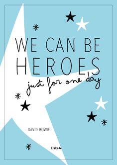 We can be heroes - David Bowie   Elske   www.elskeleenstra.nl