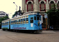 A tram in Kolkata. Calcutta Tramways is the only remaining tram network in India. India Tour, Largest Countries, West Bengal, Tourist Places, Hai, India Travel, Capital City, Incredible India, Kolkata