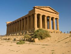The valley of the temples that is known in Italian with name Valle Deo Templi is an archaeological site in Agrigento, Sicily, Southern . Italy Map, Italy Travel, Ancient Rome, Ancient Greece, Ancient History, Taormina Sicily, Catania Sicily, Visit Sicily, Wine Tourism