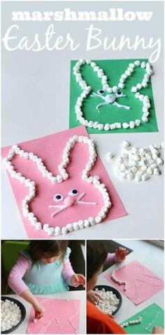 Marshmallow Easter bunny