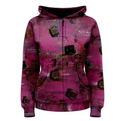 Pink Bolts Women's Zipper Hoodie       Made from: 100% Polyester     Quality YKK zipper     Adjustable drawstring hood     Standard Fit     Machine Washable