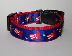 Adjustable Dog Collar  4th of July Blue with by MeanMamaDesigns, $10.00