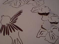 Bird motif - laser cut wallpaper