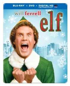 Elf: Anniversary [Blu-ray/DVD] [SteelBook] (Enhanced Widescreen for TV) (English/Spanish) 2003 - Larger Front Will Ferrell Elf, Elf 2003, Great Christmas Movies, Christmas Eve, Holiday Movies, Xmas, Christmas Ideas, Christmas Books, White Christmas