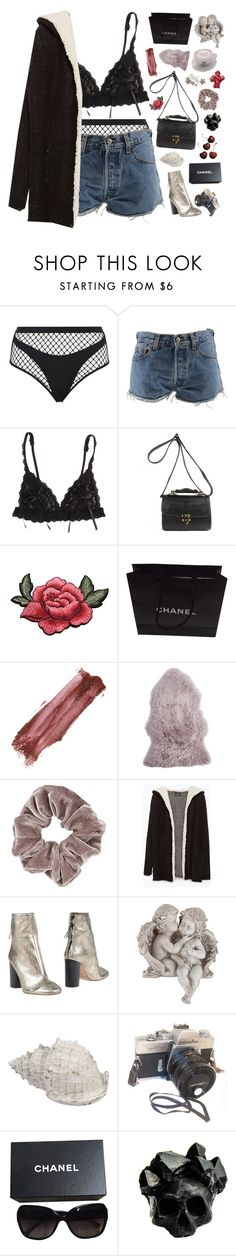 """""""what she doesn't want is what she doesn't want."""" by dance-the-pain-away ❤ liked on Polyvore featuring Agent Provocateur, Levi's, Hanky Panky, Chanel, tarte, Pier 1 Imports, Topshop, Zara, Isabel Marant and Universal Lighting and Decor"""