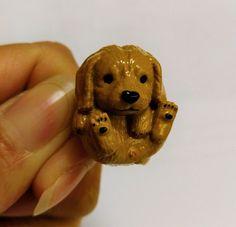 Dog Puppy Pet Golden Retriever Handmade Adjustable Ring Jewelry Jewellery JLY621