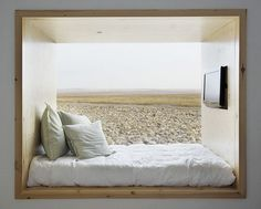 this alcove bed kinda looks like a huge window seat Home Interior, Interior Architecture, Interior Decorating, Hospital Architecture, Interior Modern, Kitchen Interior, Interior Ideas, Kitchen Design, Alcove Bed