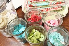 beautiful colored buttons . . . so perfect for spring