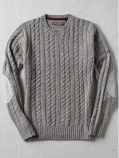 Ben Sherman Cable Crew Neck Sweater | Piperlime