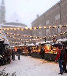 Christmas market in Saltzburg, Austria