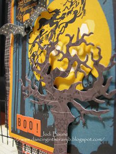 For a bit of spooky fun, the Creepy Gate is tucked in on either side of the post card. #cheeryld #jodibaune Dies used: Spooky Tree - B191; Going Batty - A194; Coved Rectangle-Classic LG Stackers Nesting Dies - XL-10; Coved Rectangle Classic - Silver Stackers - L-10; Mini Pearl Rectangle - DL198; Creepy Gate - B195 http://www.cheerylynndesigns.com