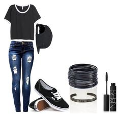 """""""Untitled #35"""" by pheobe-poindexter on Polyvore featuring H&M, Vans, NARS Cosmetics and ABS by Allen Schwartz"""