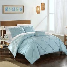Chic Home Erin Reversible Comforter Set, Blue