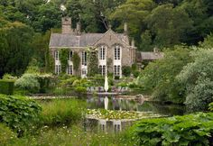 Gresgarth Hall - Lancaster, England | View across the lake towards the house