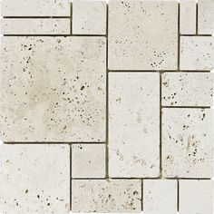 Travertine Marble Systems 5-Pack 12-in x 12-in Lighter