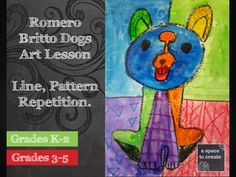 This 40 page powerpoint presentation takes younger students through an understanding of Line, Pattern, Repetition and Rhythm. A basic introduction to the artist Romero Britto and what Pop Art is. It includes a step by step demonstration of how to draw a dog, break up the background and add patterns.