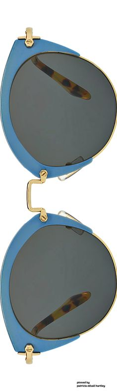 Miu Miu Monochromatic Inlay Cat-Eye Sunglasses