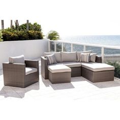 Atlantic 4-piece Modular Seating Set - Gray
