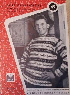Dale Trysling 2 - 49 Norwegian Knitting, Bergen, Color Combinations, Knitwear, Knitting Patterns, Men Sweater, Sweaters, Diy, Vests