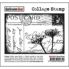 Darkroom Door Collage Stamp - Floral Post