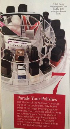 The Polish Parlor was featured in InStyle as a top pick for organizing your beauty routine!