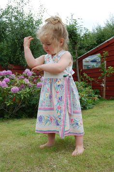 Summer girl in summer dress