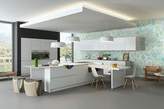 Arkitekttegnet kjøkken i Corian