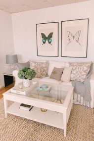 Loving this entire look. Stephanie's Home Tour - Style Me Pretty Living Living Pequeños, Nordic Living Room, City Living, Living Room Decor, Living Spaces, Liatorp, Apartment Chic, Apartment Living, Home Room Design
