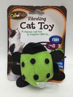 Cat Toy Vibrating Green Lagybug Plush Cat Pals New Create Website, Shopping Hacks, Cat Toys, How To Make Money, Lunch Box, Plush, Plastic, Cats, Green