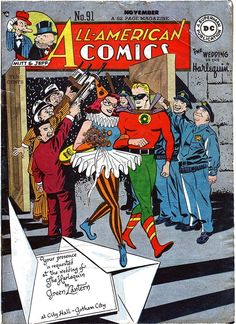 All-American Comics Issue 91 - Wedding of Green Lantern and Harlequin #ComicBookWeddings