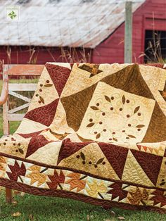 Shades Apart the perfect palette for a fall leaf quilt as seen in American Patchwork & Quilting Oct 2012 issue