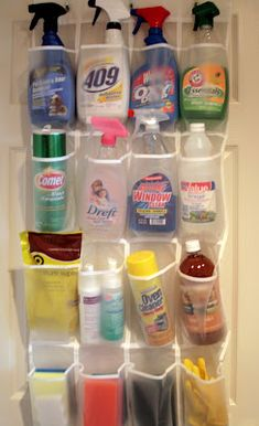 """Schoenen""""zak"""" voor alle schoonmaakspullen ....handig"""