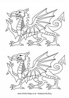 A collection of colouring page with Wales as the theme - ranging from flags to Welsh dragons to daffodils to traditional dress! Individual Welsh Colouring Pages Welsh Symbols, Welsh Tattoo, Saint David's Day, Love Spoons, Dragon Coloring Page, Welsh Dragon, Pyrography Patterns, Stencil Templates, Stencils