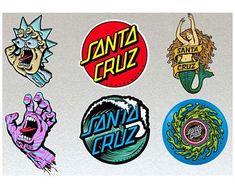 Santa Cruz Stickers, Santa Cruz Logo, Skate, Hand Logo, New Sticker, Surfboard, Colorful Backgrounds, The Originals, Etsy