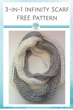3-in-1 Infinity Scarf FREE Crochet Pattern   ShehlaGrr