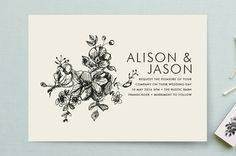 Elegance Illustrated Wedding Invitations by Phrosné Ras at minted.com