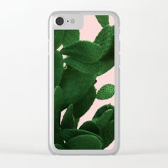 Cactus On Pink Clear iPhone Case by ARTbyJWP from Society6 #phonecases #clearcases #iphonecases #cactus #green  ---   Shop clear iPhone cases featuring brilliant patterns and designs on frosted, transparent shells - created by the world's best independent artists.