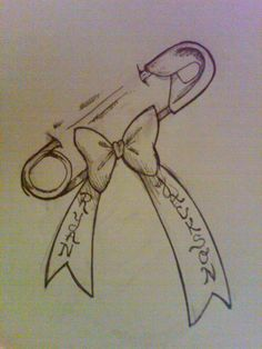 Be a good tattoo to celebrate logan. Name on left , birthday on right. Safety Pin Tattoo