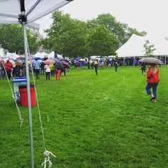We've got sunshine on a cloudy day ☁️☔️ | Come by our booth at the #AlexandriaFoodandWineFestival and say hello! #Saturday #Alexandria #RainorShine #BravingTheStorm