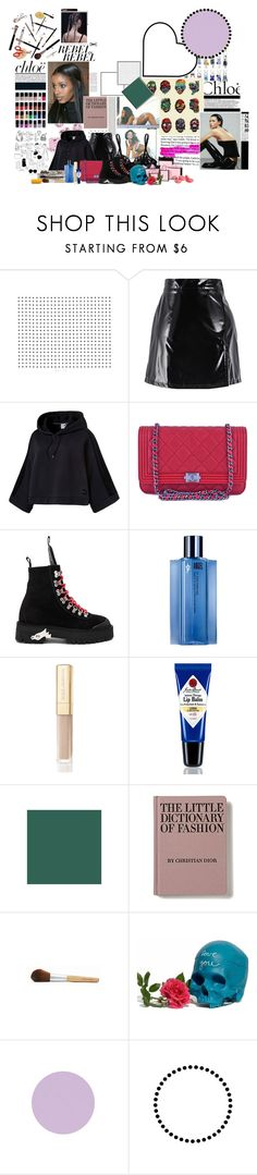 """who what what what where"" by hvbree ❤ liked on Polyvore featuring Børn, Puma, Chanel, Off-White, Thierry Mugler, Dolce&Gabbana, Jack Black, Chloé, Equipment and Lara"