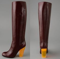 Marc by Marc Jacobs Knee Boot with Colored Lucite Heel