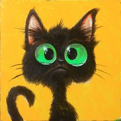 """Saatchi Art Artist tamar tukhashvili; Painting, """"cat"""" #art"""