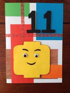 LEGO verjaardagskaart voor een jongen! LEGO birthday card for a boy! DIY