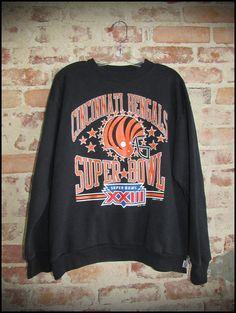 Vintage 80's NFL Cincinatti Bengals Super Bowl 23 Crewneck Sweatshirt by RackRaidersVintage, $20.00