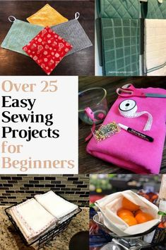 Mega List of Easy Sewing Projects. I love all of these simple sew projects. All of them are full of great step by step tutorials with pictures and even videos. These projects are perfect for beginners! sewing projects for beginners Sewing Hacks, Sewing Tutorials, Sewing Crafts, Sewing Tips, Diy Crafts, Decor Crafts, Sewing Patterns Free, Free Sewing, Sewing For Kids